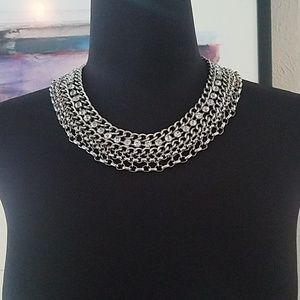White House Black Market Rhinestone Necklace